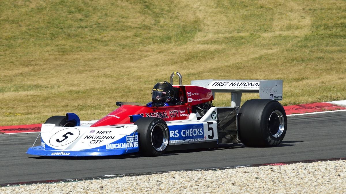 March 761 Formel 1 Rennwagen von 1975,Fahrer: Thornton Gregory, GB. 46. AvD-Oldtimer-Grand-Prix 2018, FIA Masters Historic Formula One Championship am 11.Aug.2018