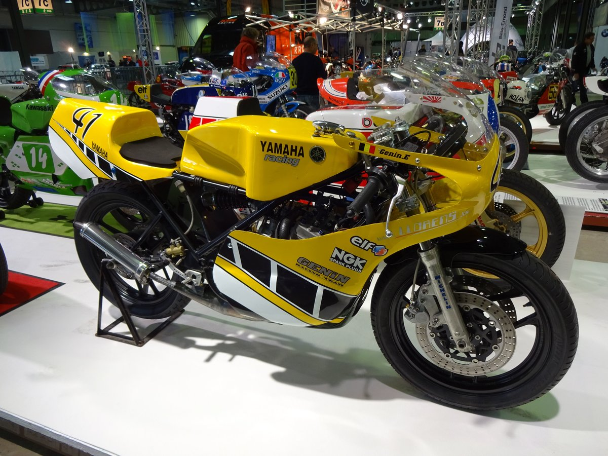 Maxton-Yamaha TZ 350 auf der International Motor Show in Luxembourg, 18.11.2016