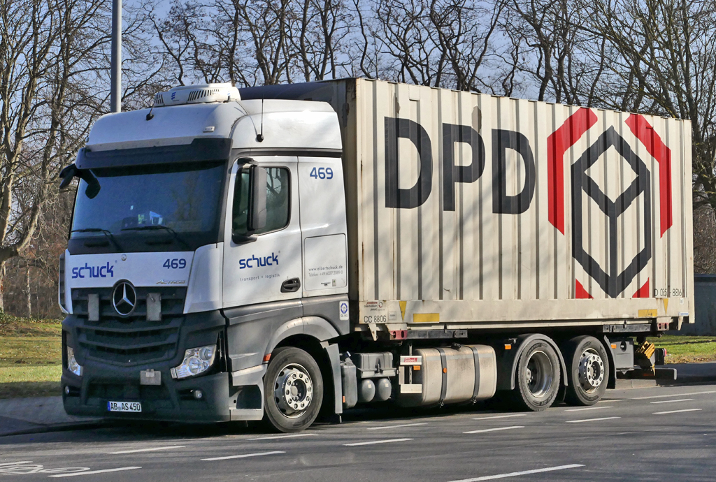 MB Actros mit DPD-Container in Euskirchen - 13.02.2017