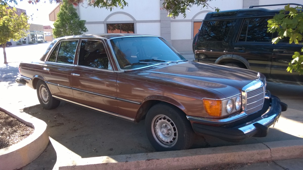 Mercedes 300SD Turbodiesel (W116, US-Exportversion) in Clinton (OK), USA (Oktober 2014)