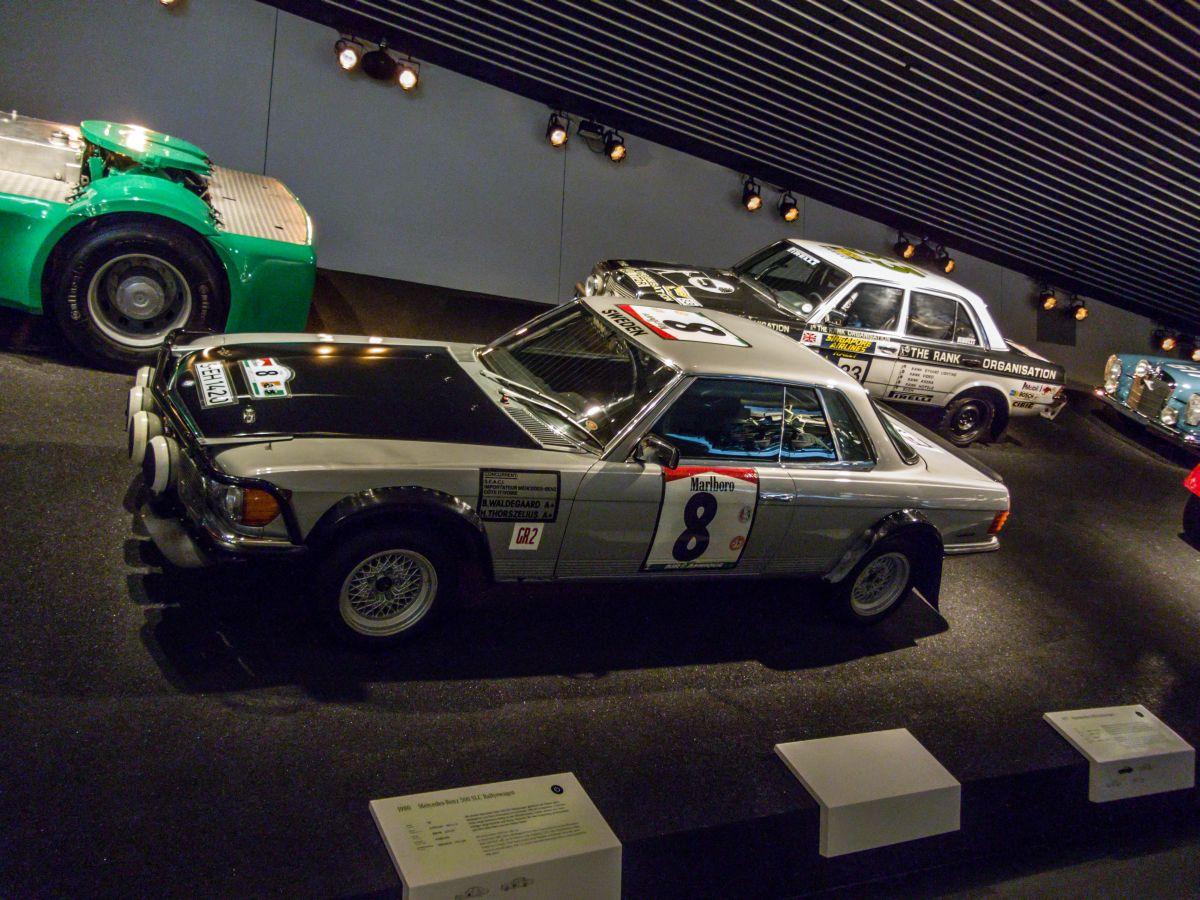 Mercedes benz 500slc rallye mercedes benz museum am for Rallye mercedes benz