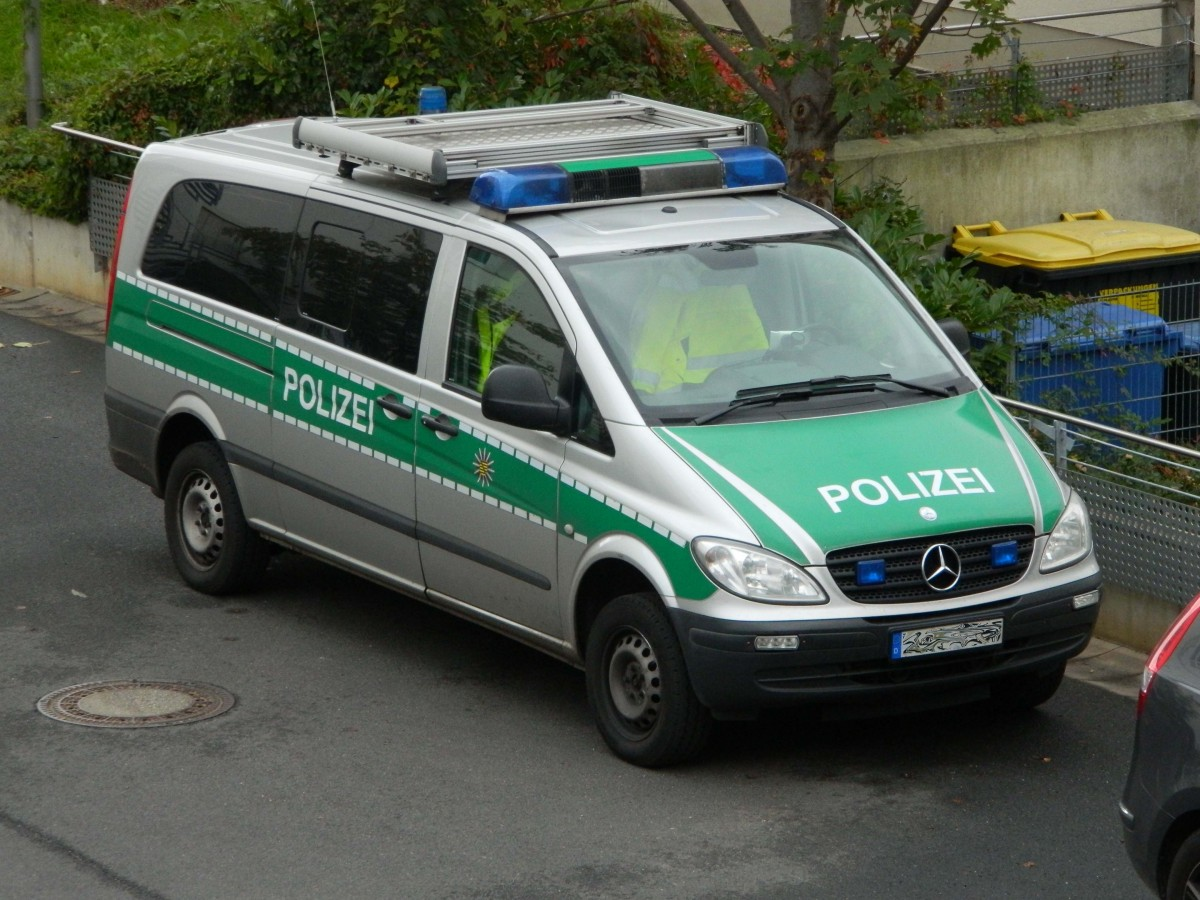 mercedes benz vito im dienst der polizei in sachsen am in leipzig. Black Bedroom Furniture Sets. Home Design Ideas