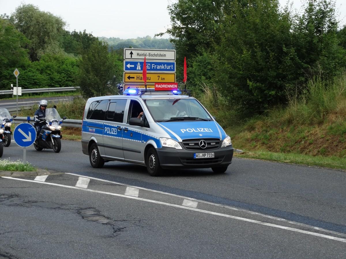 Mercedes benz vito zur absperrung der radstrecke des for Mercedes benz deutschland
