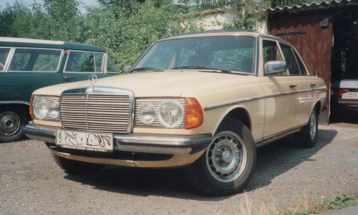 mercedes benz w123 230e mit 122 ps baujahr 1980 im sommer 1994 in leipzig. Black Bedroom Furniture Sets. Home Design Ideas