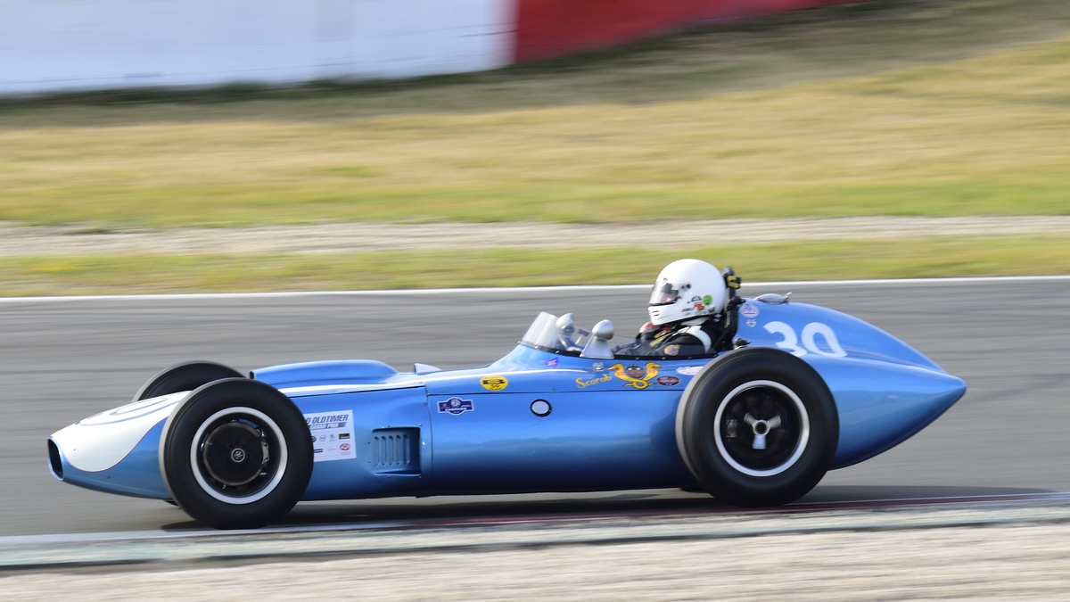 Mitzieher NR.30 Scarab Offenhauser, Bj.1960 (Intercontinental and Indianapolis) Fahrer: Bronson, Julian, 46. AvD-Oldtimer-Grand-Prix 2018, Rennen 6 Historic Grand Prix Cars bis 1965 am 11.Aug.2018