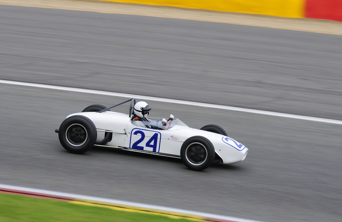 "NR.24 LOTUS 18 907, Bj:1960, 2500ccm, Fahrer: McCABE Charles (USA), am 19.Sep.2015 im Rahmenrennen der 6h Classic, Class 7b - Pre 1961 rear engine Grand Prix cars on 15"" wheels, Rennen der Historic Grand Prix Cars"