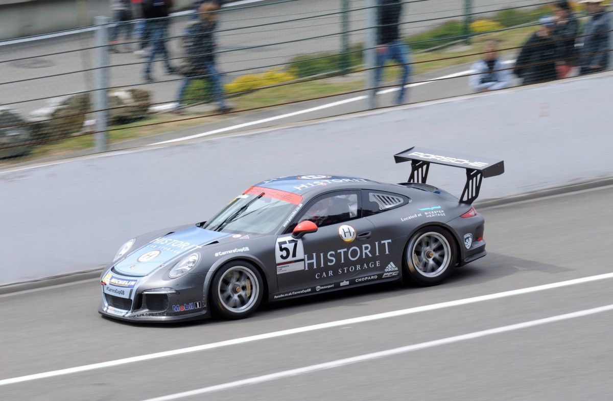 Nr.57, Porsche 911 (Type 991) GT3 Cup Car , Porsche Carrera Cup Great Britain, Supportrace bei den FIA WEC 6h Spa Francorchamps 2.Mai 2015