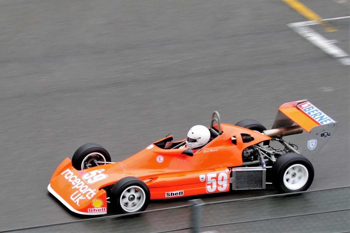 Nr.59, Geoff Pashley (GB), Reynard SF78 (Formula Ford 2000), HMR Historic Monoposto Racing  Regenrennen (Spa Wetter)  beim Youngtimer Festival Spa am 19.7.2015