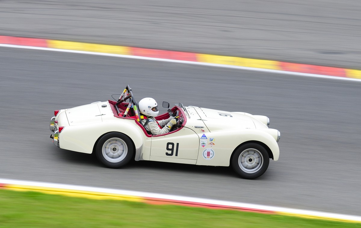 Nr.91,TRIUMPH TR2, Closed Wheel Race, des Historic Sports Car Club im Rahmen der Classic SPA SIX HOURS 19.September 2015