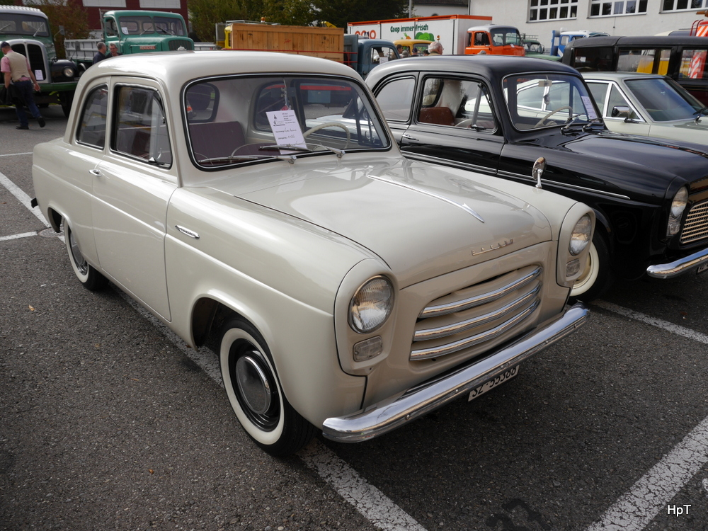 Oldtimer Ford Anglia in Bremgarten AG am 18.10.2014