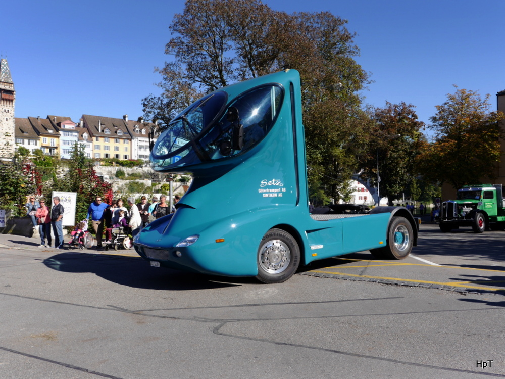 Oldtimer Lkw Mercedes Unterwegs In Bremgarten Ag Am 18