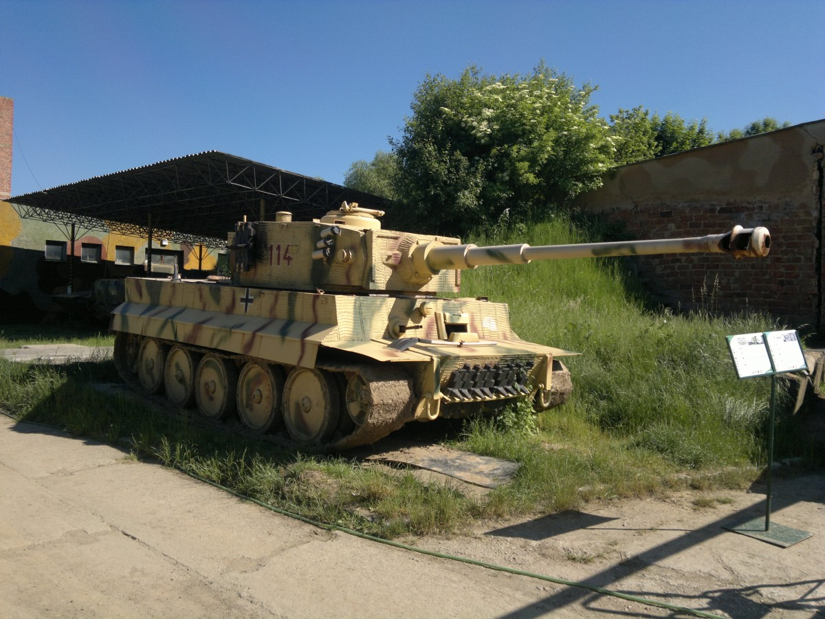 Panzerkampfwagen Kpfw. VI Tiger in Military Museum Rokycany am 5.6. 2015.