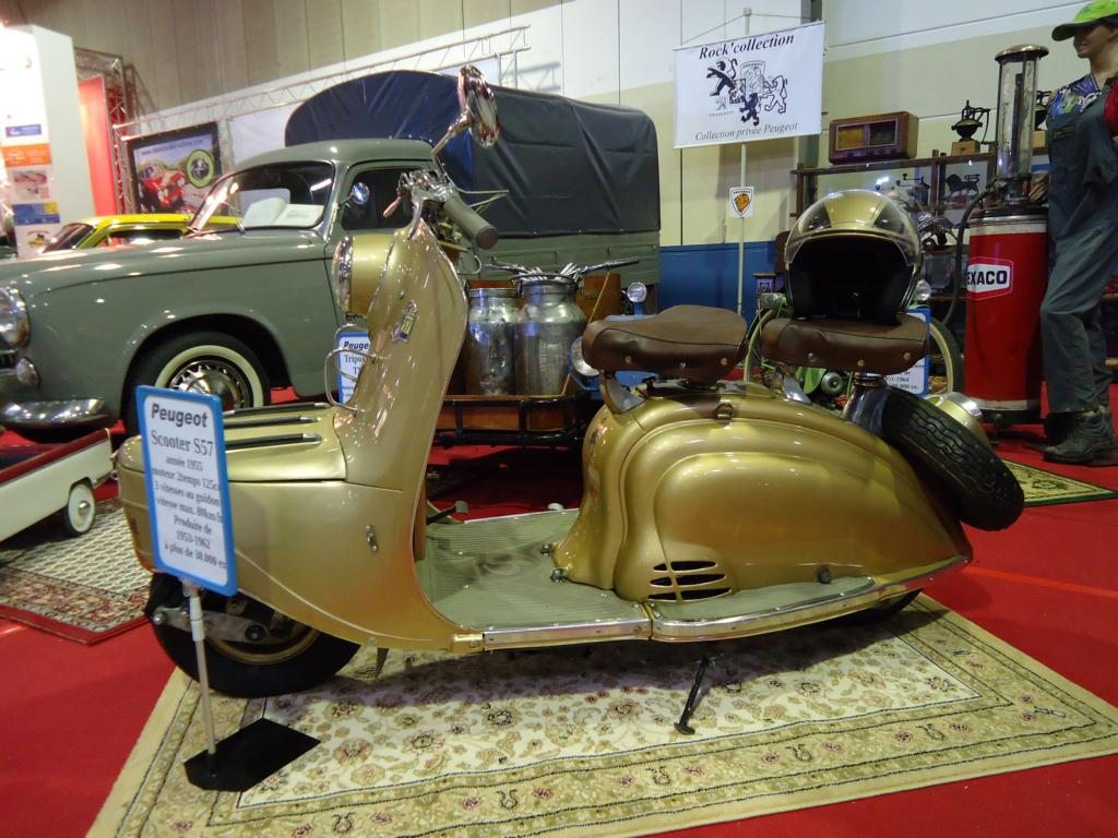 Peugeot Scooter S 57 beim Autojumble in Luxemburg, 08.03.2015