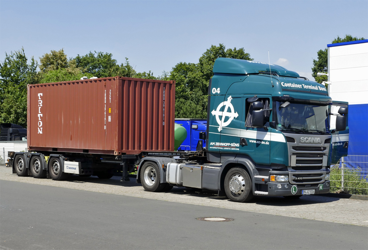 Scania R 410 mit Container in Euskirchen - 30.06.2018