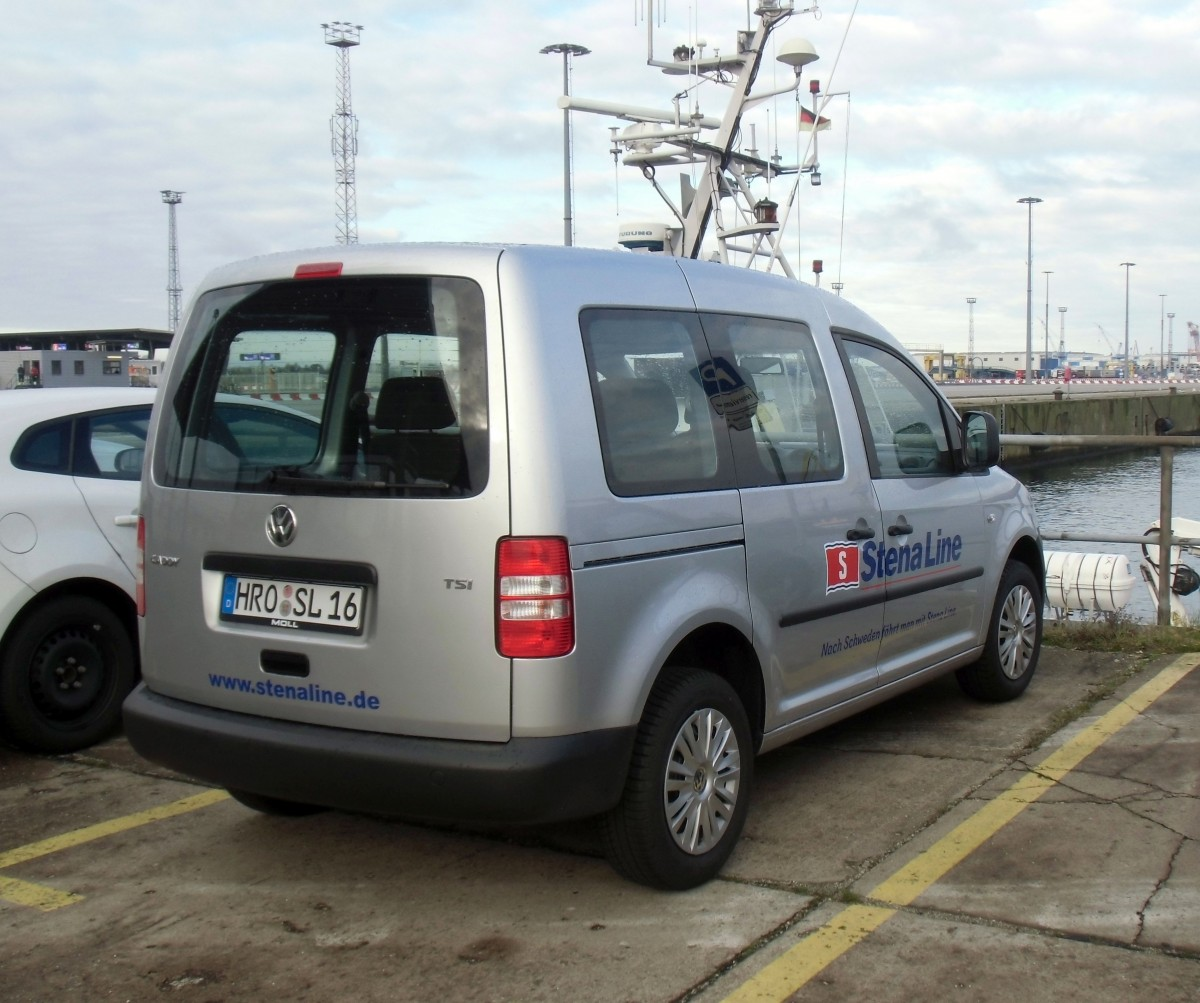 vw caddy dienstwagen der reederei stena line in rostock am. Black Bedroom Furniture Sets. Home Design Ideas