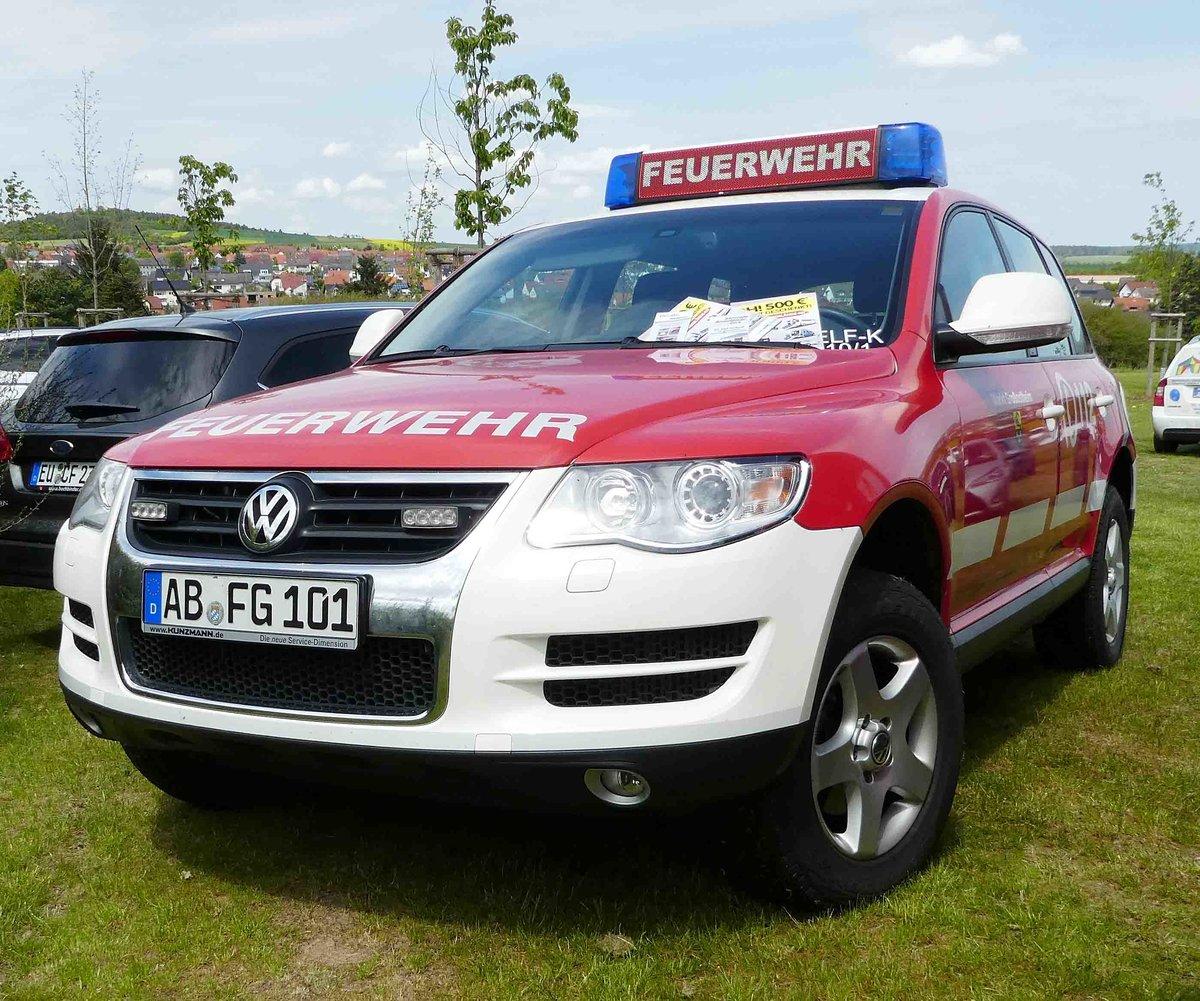 Vw Touareg Der Feuerwehr Großostheim Gesehen Auf Dem Parkplatz Der