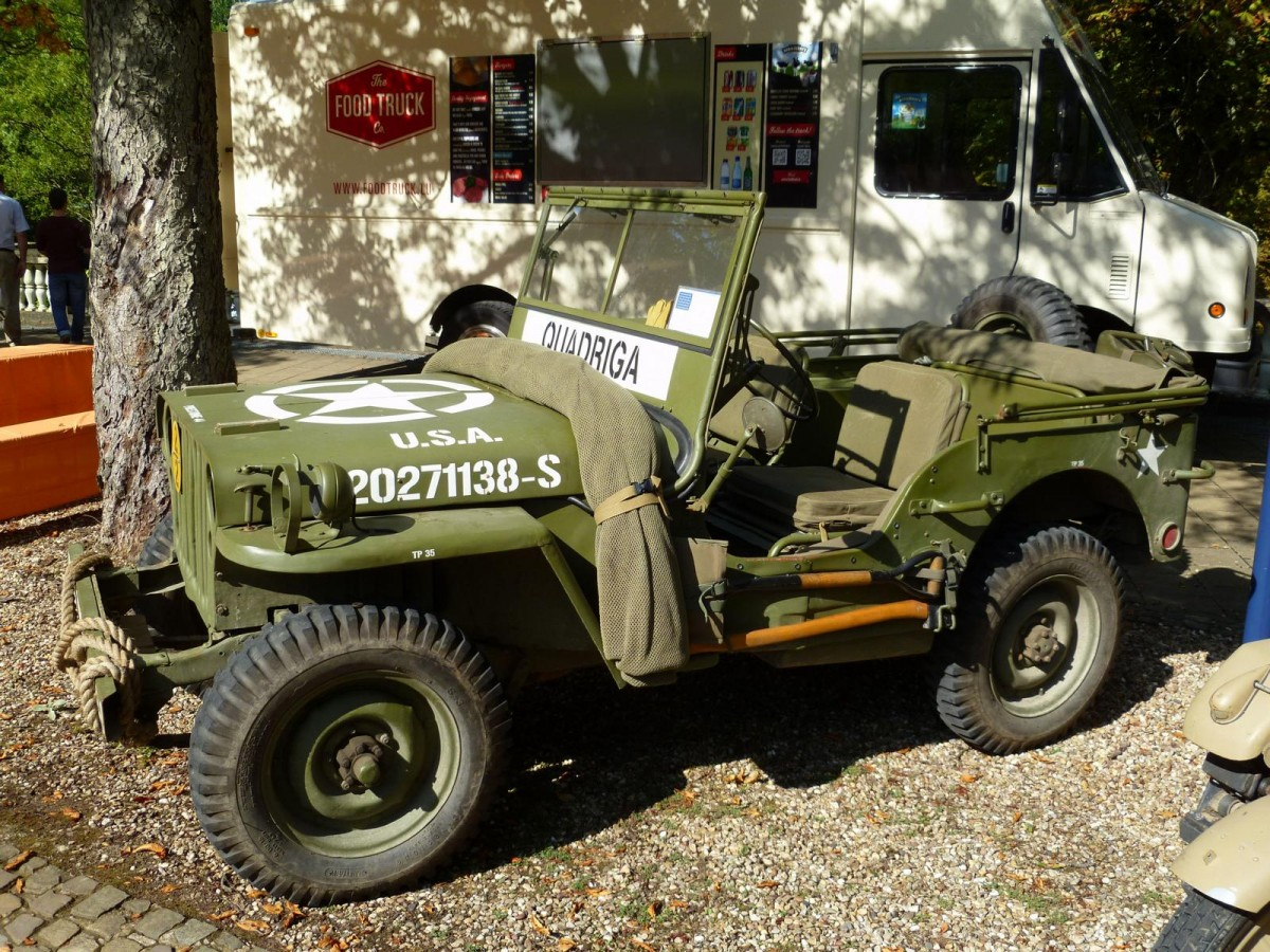 Willy`s Jeep bei den Luxembourg Classic Days in Mondorf am 29.08.2015