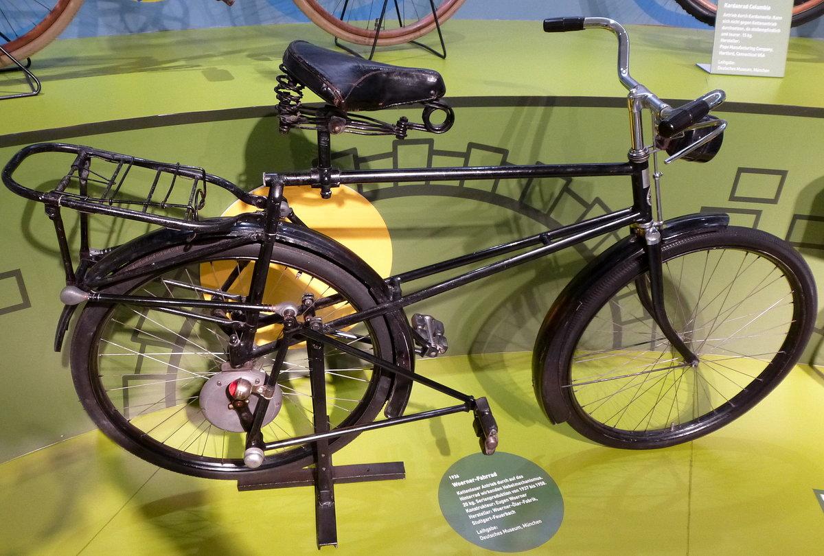 woerner fahrrad von 1936 kettenloser antrieb durch auf das hinterrad wirkenden hebelmechanismus. Black Bedroom Furniture Sets. Home Design Ideas