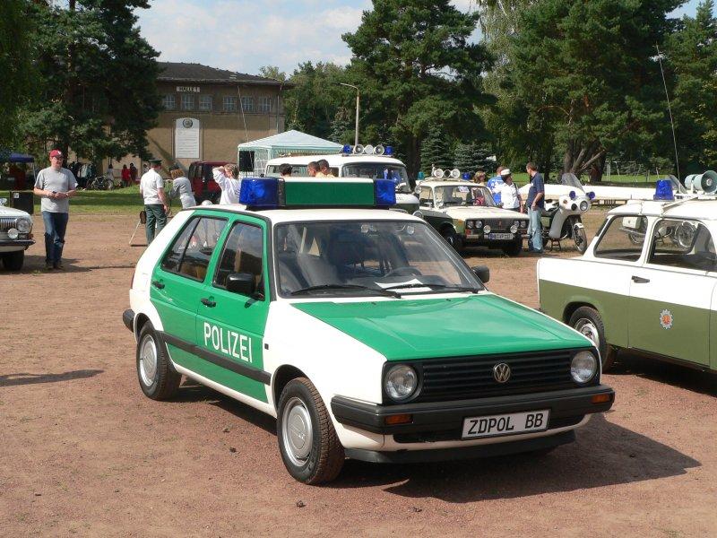Ausgemusterter Golf Ii Streifenwagen 4 8 2007