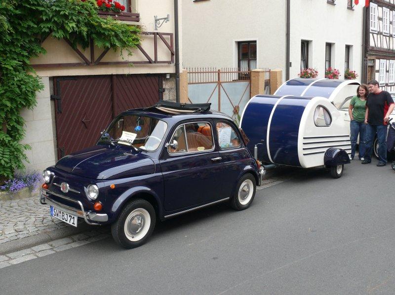 Fiat Mit Wohnwagen Bei