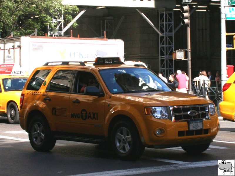 Ford Escape Hybrid 2009  New York City Taxi  aufgenommen am 18. September 2008.