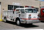 American La France Pumper 'Riverside Fire Department', aufgenommen am 22. Mai 2016 in Greenville, Mississippi / USA.