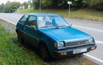 Mitsubishi Colt (1978-1983) ein charakteristisches Kleinauto. Aufnahmedatum: 08.10.2016.