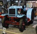. Hanomag Diesel SR 45 Baujahr 1936, Gewicht 3800 Kg, 4 Zylinder Motor , 5195 ccm,  45 Ps, aufgenommen im Auto & Traktor Museum Gebhardsweiler. 07.09.2017