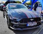 =Ford Mustang, gesehen beim Fuldaer Autotag 2018 im August