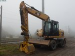 Caterpillar Bagger in Sassnitz am 01.11.2014