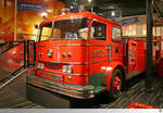 1967 Ward LaFrance Pumper  Memphis Fire Department  ausgestellt im Fire Museum of Memphis, Tennessee / USA.