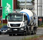 MAN TGS Betonmischer am 08.06.16 in Frankfurt am Main