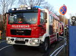 FF Maintal MAN TGM LF20 (Florian Maintal 1/46/1) am 26.01.17 bei einen Großbrand in Maintal Bischofsheim
