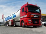MAN TGX Tanklastzug Downside am 08.06.16 in Frankfurt am Main