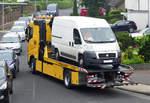 Defekter Fiat Dukato beim Abtransport auf ADAC-Abschlepper MB 420 bei Euskirchen - 11.06.2018