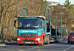 MB Actros Autotransporter  Masolf  in Euskirchen - 29.12.2016