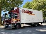 Ein MB Actros von Galliker Transport am 8.9.20 in Bern Bethlehem.
