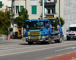 Scania P340 Muldentransporter unterwegs in Solothurn am 21.09.2017