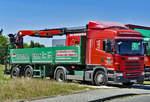 Scania G 400  Fassbender-Tenten  Sattelzug mit Ladekran in Rheinbach - 08.07.2018