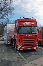 SCANIA R500 \8/ der Spedition Merkur.