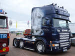 Ein Scania R mit feinstem Airbrush in Fairford.