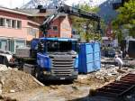Scania G410 in Klosters am 07.05.2015