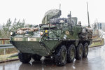 M1126 Stryker ICV (Infantry Carrier Vehicle, Infanteriegruppenfahrzeug) des 1/2CAV 1st Squadron, 2nd Cavalry Regiment   War Eagle  (A-Troop  Apache )  der U.S.ARMY.
