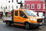 =Ford Transit steht am Rathausplatz in 36088 Hünfeld, November 2016