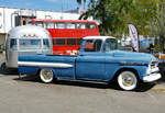 Chevrolet Apache 32 vor Airstream Trailer in Bad-Honnef - 30.04.2017