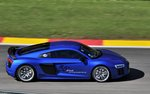 Mitzieher eines Audi R8 V10 bei den VIP´s Lapes in Spa Francorchamps am 7.Mai 2016
