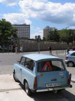 Trabant in Berlin-Wilhelmstra�e am 8-7-2007.