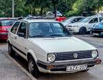 VW Golf Mk2, fotografiert in Pécs (Ungarn) in August 2019.