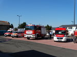 Feuerwehr Maintal FIAT Daily MTW2 (Florian Maintal 2-19-1), MAN LF 16 CAFS (Florian Maintal 2-44-1), Deutsches Rotes Kreuz Ortsverband Maintal VW T4 (RK Main-Kinzig 19-19-2) und Mercedes Benz Sprinter