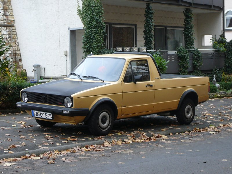 vw caddy in der golf i variante gesehen in 36129 gersfeld. Black Bedroom Furniture Sets. Home Design Ideas